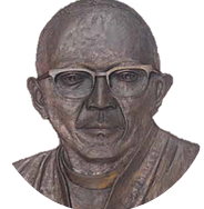 An image of the bust of Reverend Seth Mokitimi