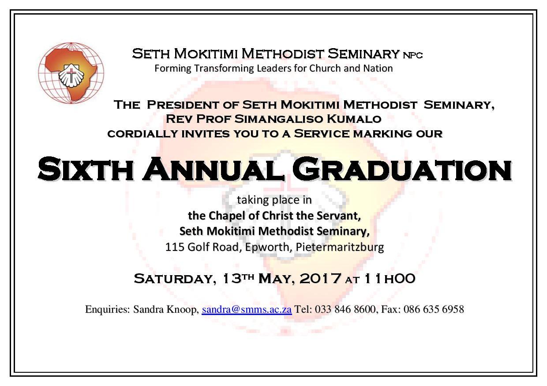 6th Annual GRADUATION Invitation