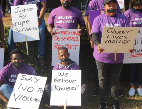 SILENT PROTEST MAKES A STATEMENT AGAINST SGBV